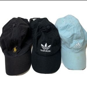 3 hat bundle polo Ralph Lauren and adidas
